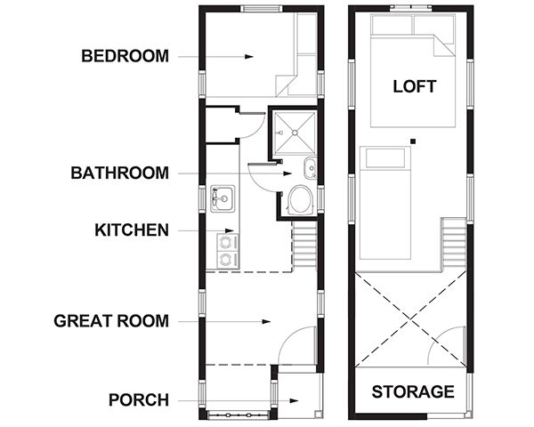 Lincoln Tiny House Floor Plan